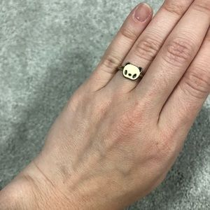 Jewelry - Tiny Panda Enamel Ring